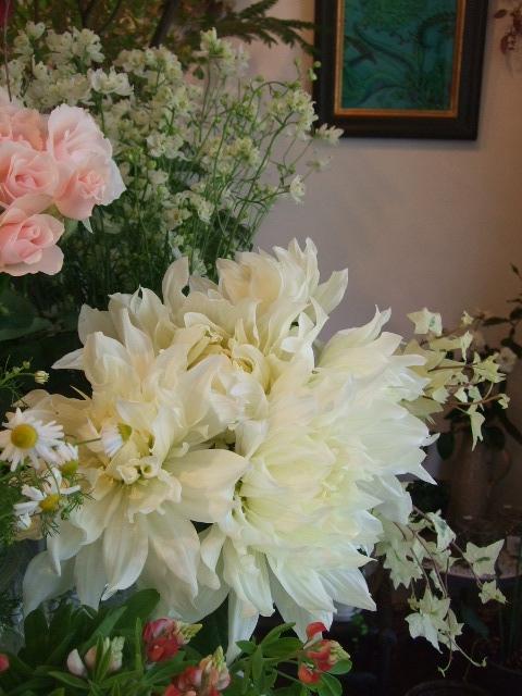 オークリーフ(白いダリアの花)_f0049672_1873917.jpg