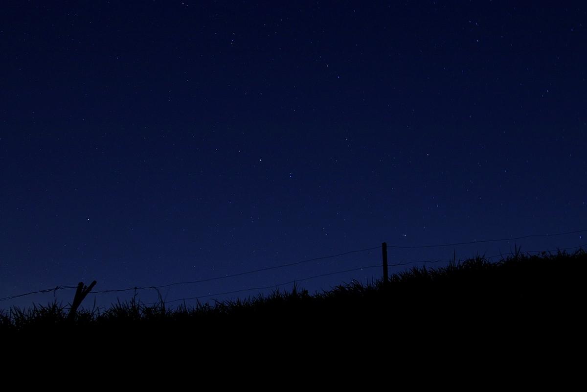 牧草地と夜空_a0060230_160478.jpg