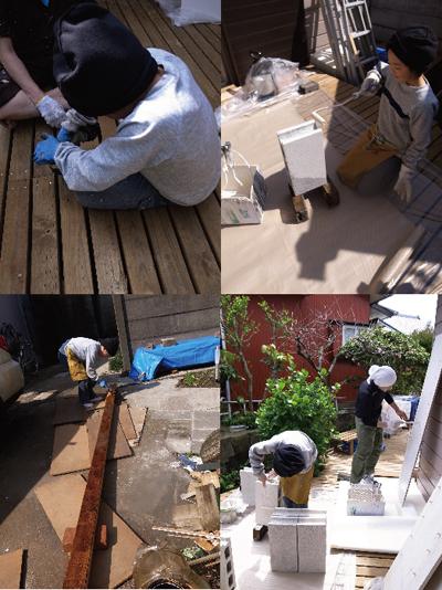 HOUSE1891-4/17内装/展示棚づくり&ひじき染め_e0142868_813167.jpg