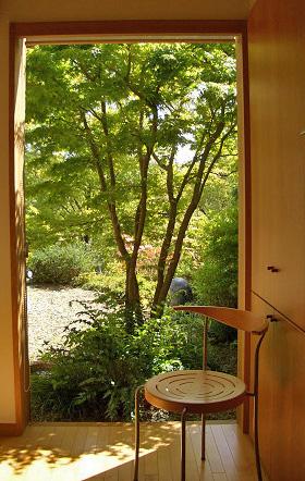 キッチンから見る庭 木製建具_e0127948_17284343.jpg