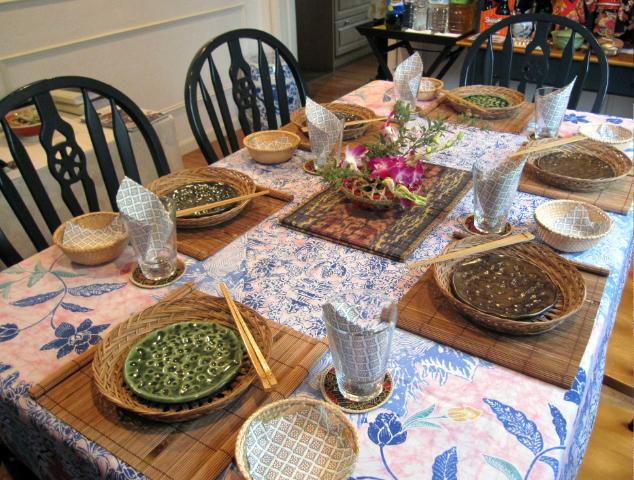 バスケットの使い方 in the dining room_f0197215_19453069.jpg