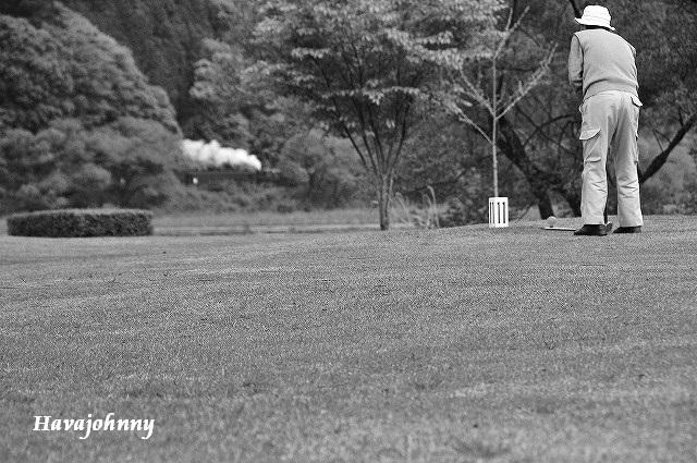 蒸気の見えるゴルフ場?_c0173762_22405191.jpg