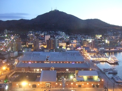 夕方の函館山