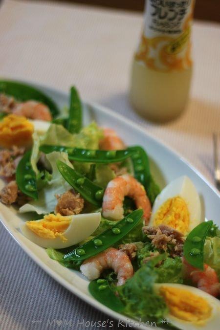 ミートソース & ゆで卵とツナの彩りサラダ♪_c0139375_15221012.jpg