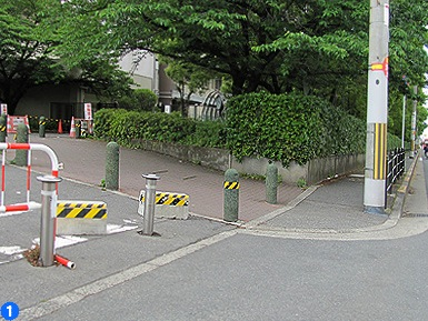 JR杉本町駅ー東口設置後の学内通学路_c0167961_12354564.jpg