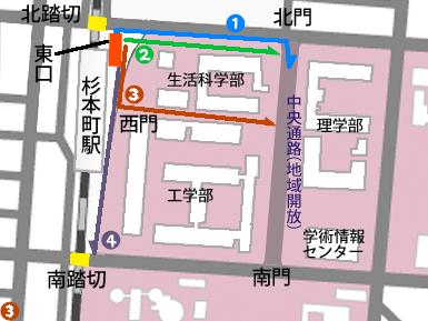 JR杉本町駅ー東口設置後の学内通学路_c0167961_2317957.jpg