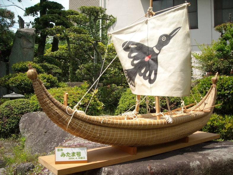葦舟みたま号、海の博物館へ_b0076008_11214242.jpg