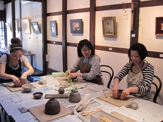 「一日陶芸教室」~一日目_f0233340_23523468.jpg