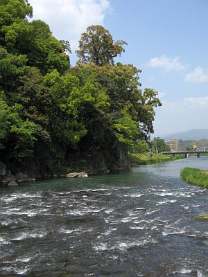 "HAKUDOU師匠と""日田""巡行(その5)・・・三隈川と""日隈=亀山""_c0001578_1937680.jpg"