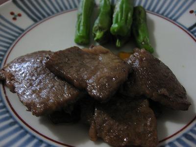 牛肉炒めたん、鰺タタキ♪(二日分)_f0116812_847797.jpg