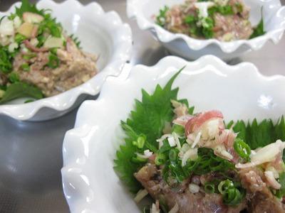 牛肉炒めたん、鰺タタキ♪(二日分)_f0116812_850753.jpg