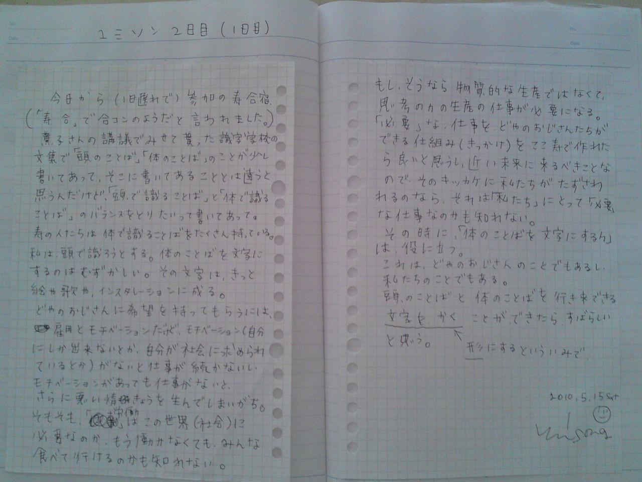 寿合宿交換日記_d0163517_1639831.jpg