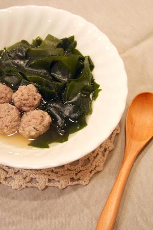 ワカメと肉団子のスープ煮_f0141419_5314314.jpg