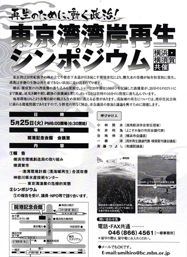 東京湾再生シンポの案内と20日の全協_f0165519_1447629.jpg