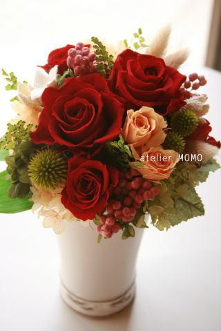赤いお花で_a0136507_2016363.jpg