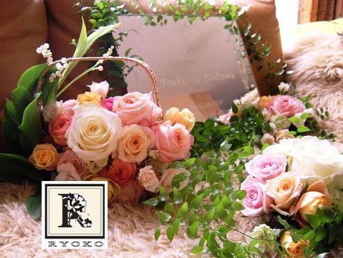 Wedding:Welcome Board\'s Flower _c0128489_15522037.jpg