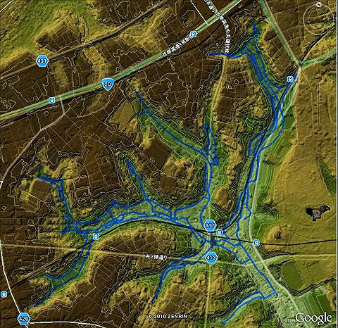河骨川の傍流と、かつての宇田川の流れたち_c0163001_002584.jpg