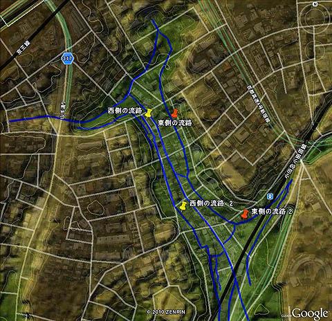 河骨川の傍流と、かつての宇田川の流れたち_c0163001_004199.jpg