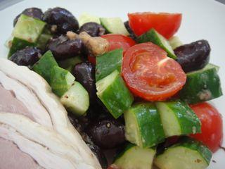 赤そら豆のサラダ 朝ごはん_e0134337_11281267.jpg