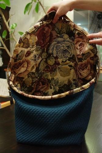 オリジナルバッグ、完成!!!ブルーグリーンのななめ掛け!_a0096367_21345838.jpg