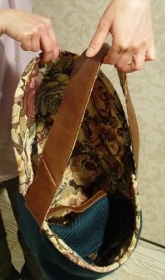 オリジナルバッグ、完成!!!ブルーグリーンのななめ掛け!_a0096367_21354446.jpg