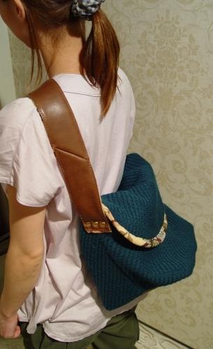 オリジナルバッグ、完成!!!ブルーグリーンのななめ掛け!_a0096367_21355342.jpg