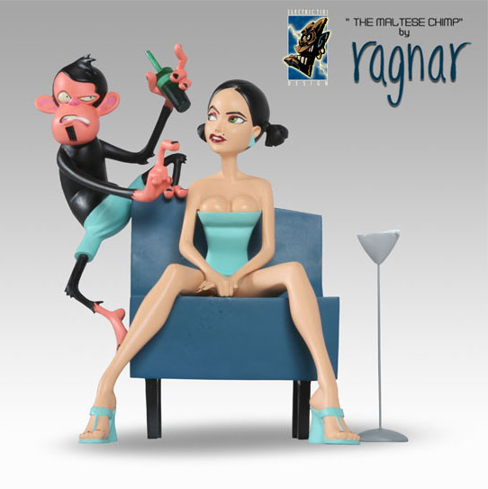 Ragnar\'s the Maltese Chimp Statue: Blue Chair_e0118156_072695.jpg