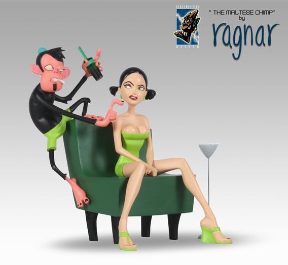 Ragnar\'s the Maltese Chimp Statue: Green Chair_e0118156_2305251.jpg
