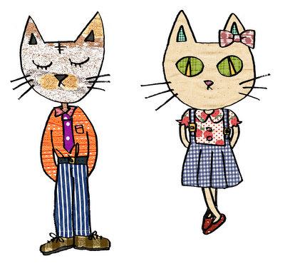 洋服を着た猫画。_b0099958_2336146.jpg