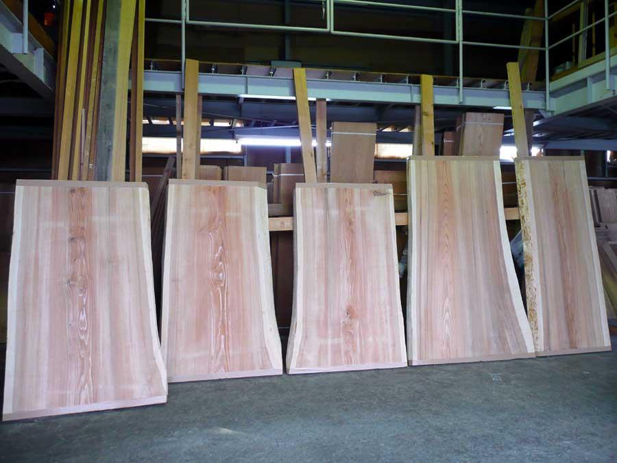 無垢厚板「テーブル板」の乾燥_f0150893_17403131.jpg