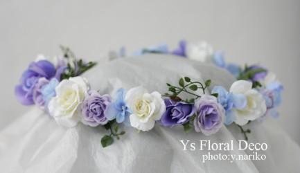 水色、薄紫、白で 花冠&ブーケ&リストレット_b0113510_15142687.jpg