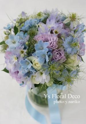 水色、薄紫、白で 花冠&ブーケ&リストレット_b0113510_15143776.jpg