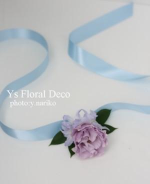 水色、薄紫、白で 花冠&ブーケ&リストレット_b0113510_15144939.jpg