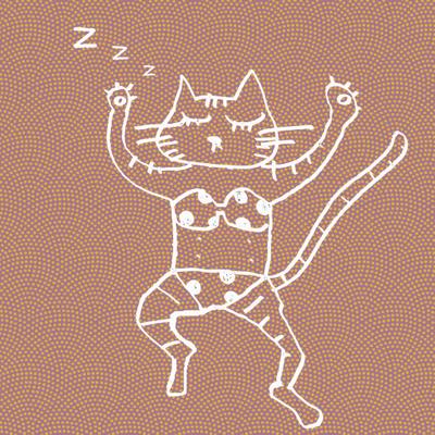 ぽんぽんパァーっで寝るネコ絵_b0099958_20252184.jpg
