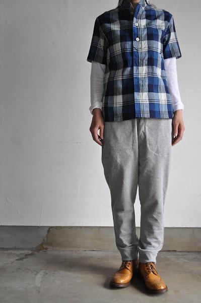 NATIC/ナティック Indigo Check Short Sleeves Shirt