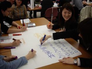 前スタッフ新津厚子さんに『ファシリテーション、ワークショップ講座』を実施してもらいました_c0167632_1514344.jpg