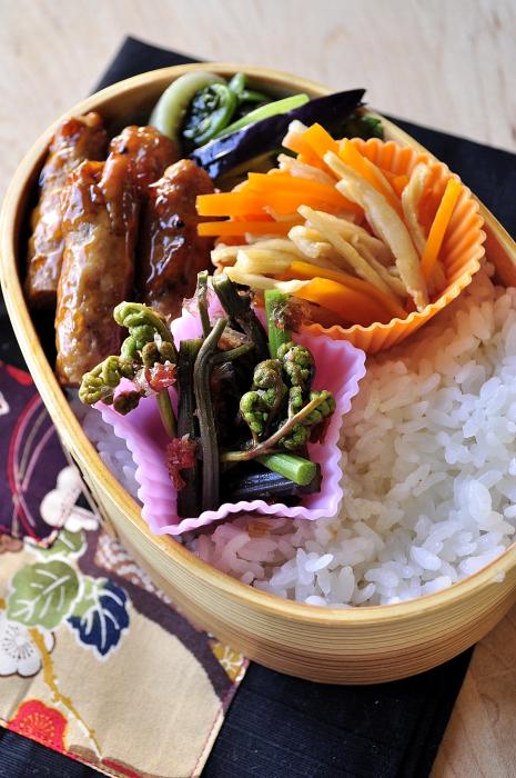 会津のわらびと自家製切り干し大根のお弁当_b0171098_7185623.jpg