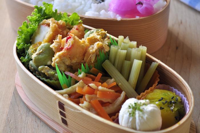 海老玉とふきの煮物のお弁当_b0171098_828777.jpg