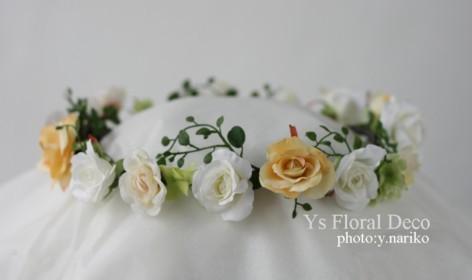 白とクリーム色の花冠_b0113510_2002174.jpg