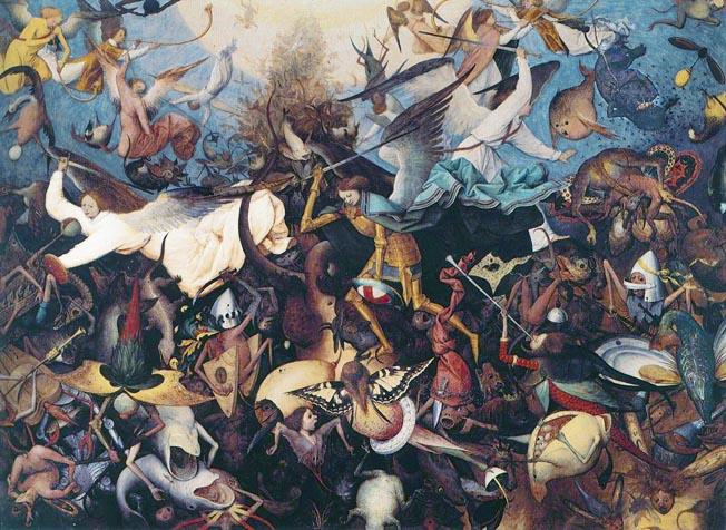 悪魔の絵画反逆天使の墜落
