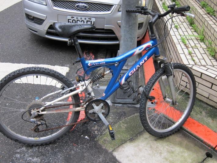 ... 自転車が台北市内ではよく