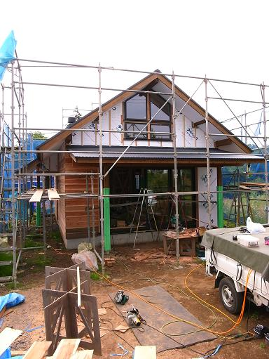 OTさんの家 外壁工事中 2010/6/8_a0039934_1826043.jpg