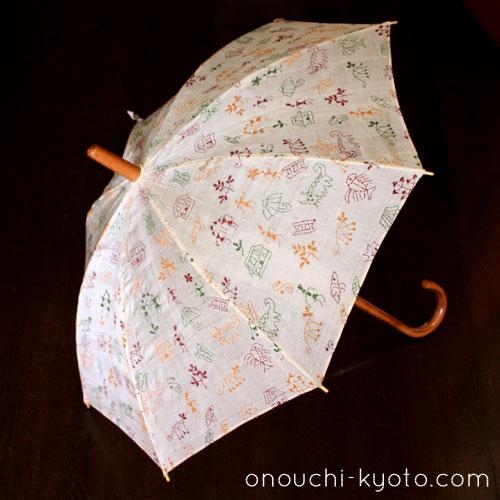 インドのサリー用生地を使ったかわいい日傘。_f0184004_21153330.jpg