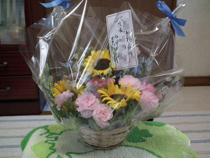お花が届きました and クーチャンが心配_a0161111_10174765.jpg