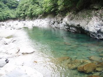 2010/6/12 川辺川 上流部キャニオニング_f0230770_13445418.jpg