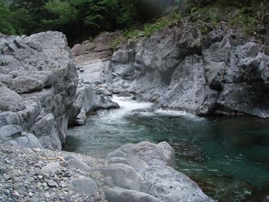 2010/6/12 川辺川 上流部キャニオニング_f0230770_13564977.jpg