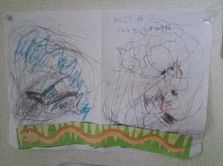 二歳半の孫の作品_e0116341_22143398.jpg