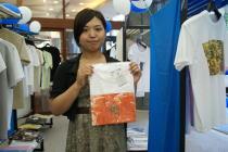 宇宙ヨット「イカロス」の帆 by JAXA/チャリティ「Tシャツアート展」3日目@日本財団ビル_f0006713_23495213.jpg