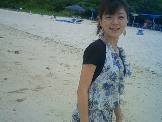 沖縄の風景 byケータイ 新城海岸のヨーコちゃん_f0024992_812294.jpg