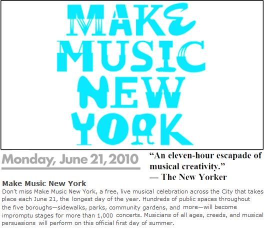 週明け月曜日はNY最大の音楽イベント Make Music New York_b0007805_10486100.jpg
